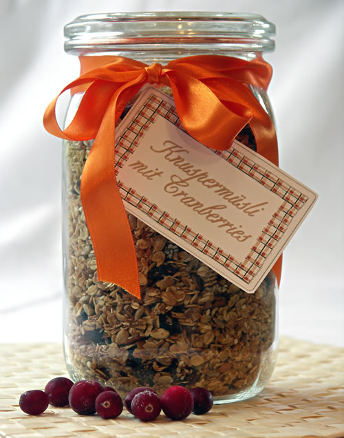 Geschenke aus der Küche: Knuspermüsli | Langsam kocht besser
