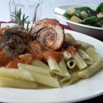 Schnitzelröllchen a la Italia
