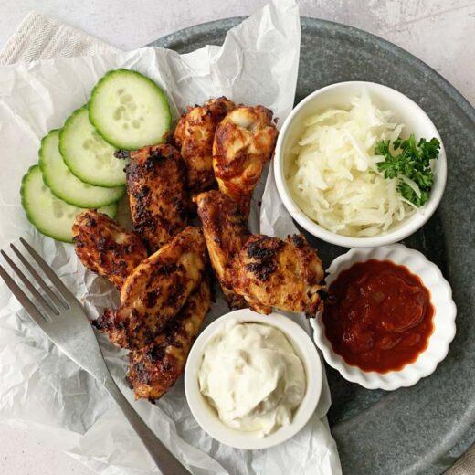 Rezept für Honey Garlic Chicken Wings