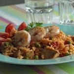 Aus dem Slowcooker: Reispfanne im Paella-Stil