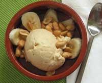 Erdnussbutter-Eis