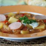 Aus dem Slowcooker: Sauerkrautsuppe ungarisch