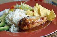Salsa-Huhn
