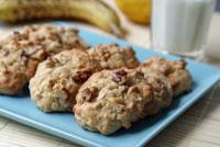 Erdnussbutter-Bananen-Cookies