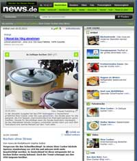 Slowcooker-Artikel bei news.de