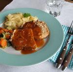 Aus dem Flavour Savour: Schweinebraten mit Aprikosen-Senf-Glasur