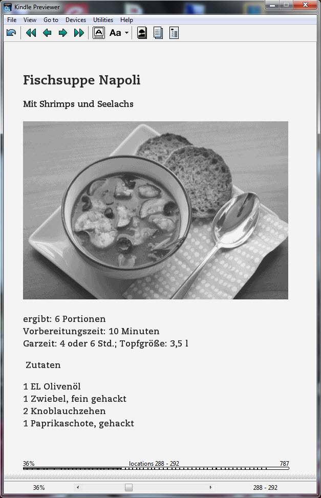 Suppenbuch im Kindle