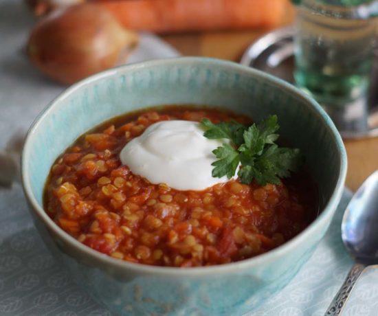 Rezept für persische Linsensuppe aus dem Slowcooker