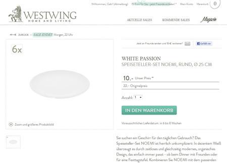 Weißes Porzellan