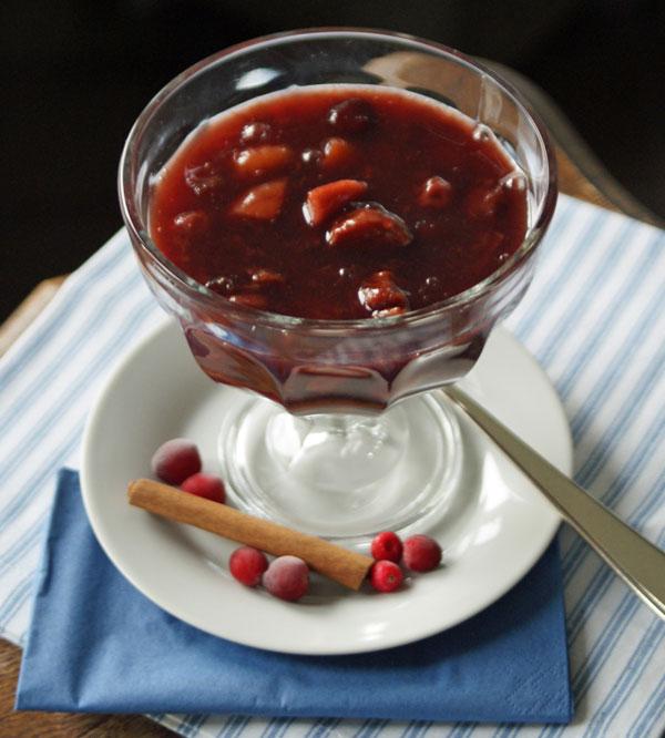 Skandinavische Fruchtsuppe aus dem Slowcooker