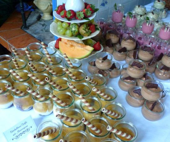 Das Dessertbuffet zur Silberhochzeit