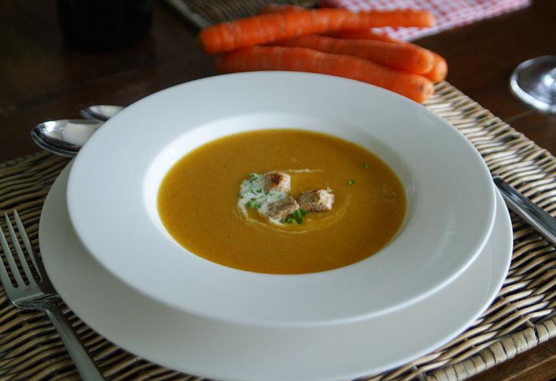 Möhren-Lauch-Suppe