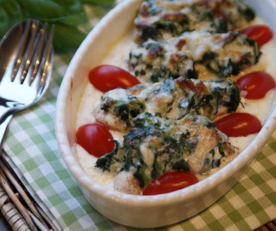 Huhn mit Spinat udn Gorgonzola