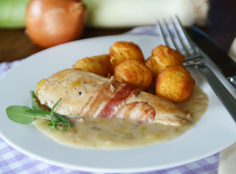 Huhn in Lauchcreme