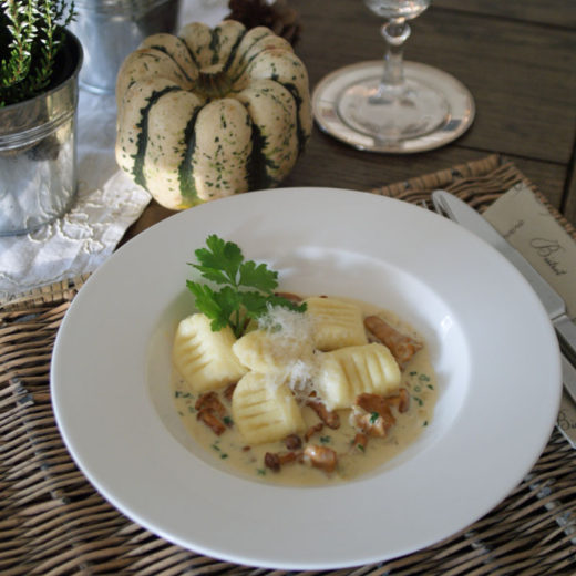 Ricotta-Gnocchi in Pilzrahm