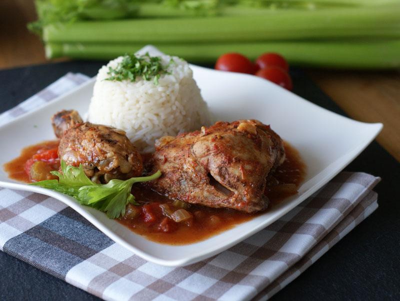 Aus dem Mini-Slowcooker: Kreolisches Hühnchen | Langsam kocht besser