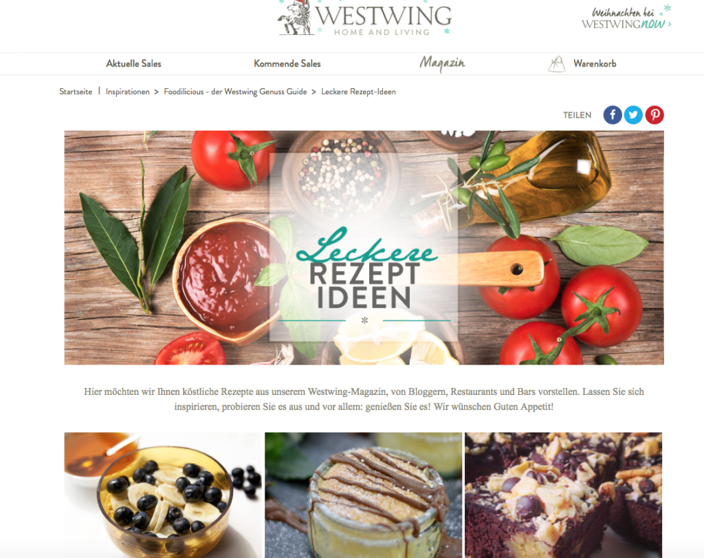 Westwing Genussguide Foodilicious