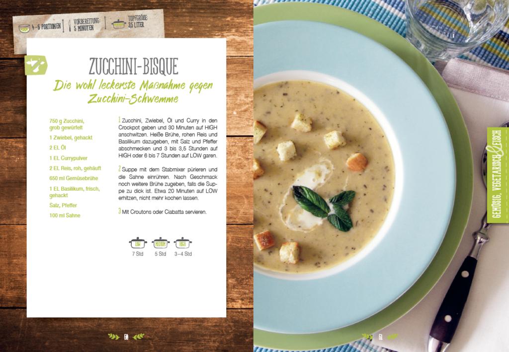 Beispiel-Rezeptseite aus dem Suppenbuch