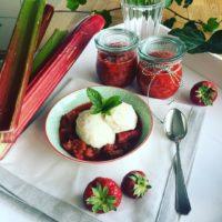 Rhabarber-Erdbeer-Kompott aus dem Slowcooker