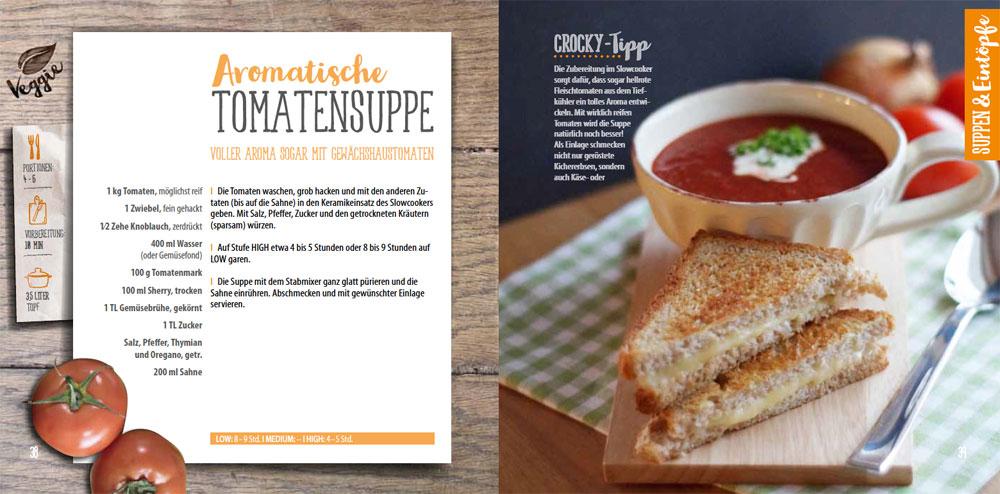 Innenansicht neues Kochbuch