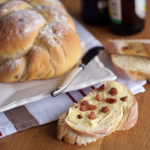 Kartoffel-Schinken-Zopf (Brot)