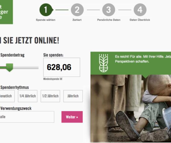 Spende an die Welthungerhilfe