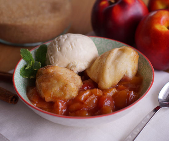 Peach Cobbler aus dem Slowcooker
