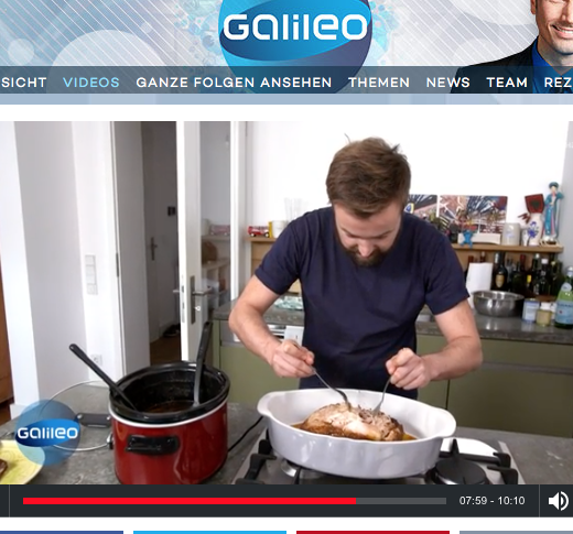 Slowcooker bei Galileo