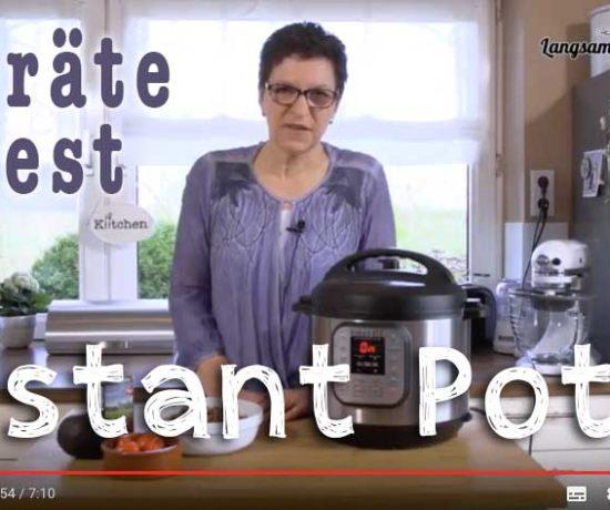 Instant Pot-Gerätetest im Video