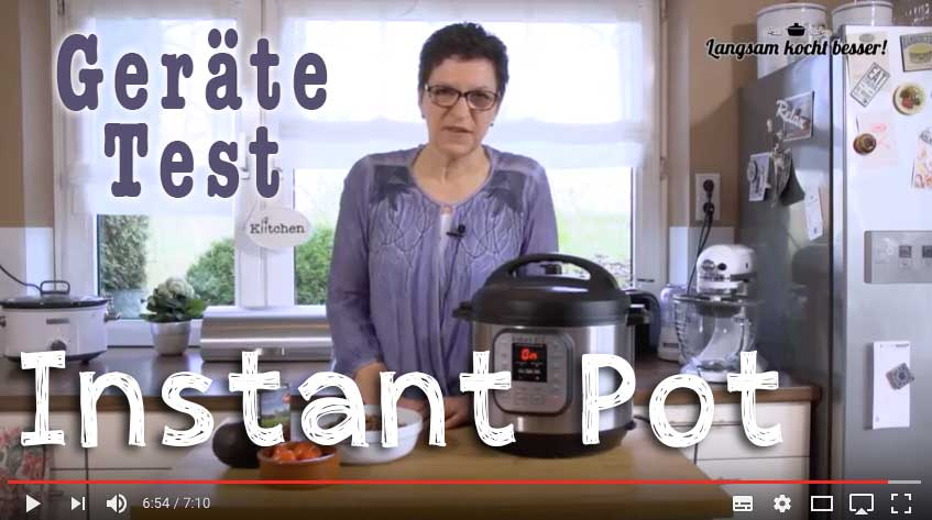 Instant Pot-Gerätetest im Video