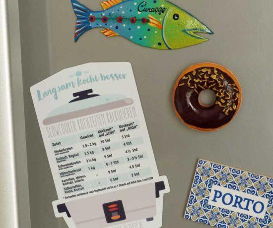 Kühlschrankmagnet Kochzeiten