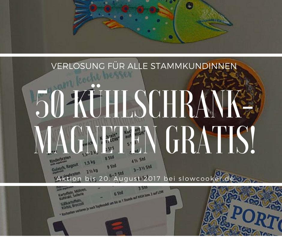 Aktion für Stammkunden: 50 Kühlschrank-Magneten gratis