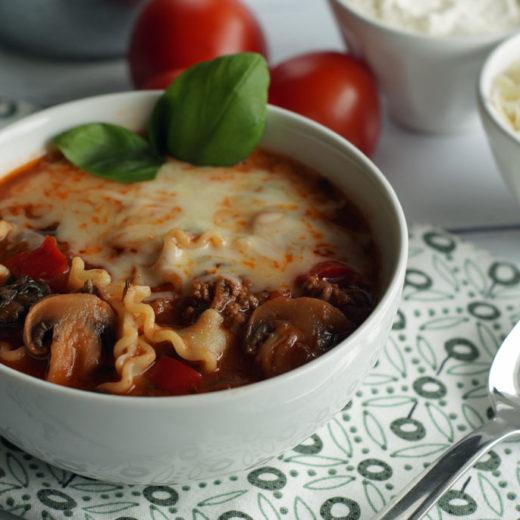 Lasagnesuppe aus dem Slowcooker