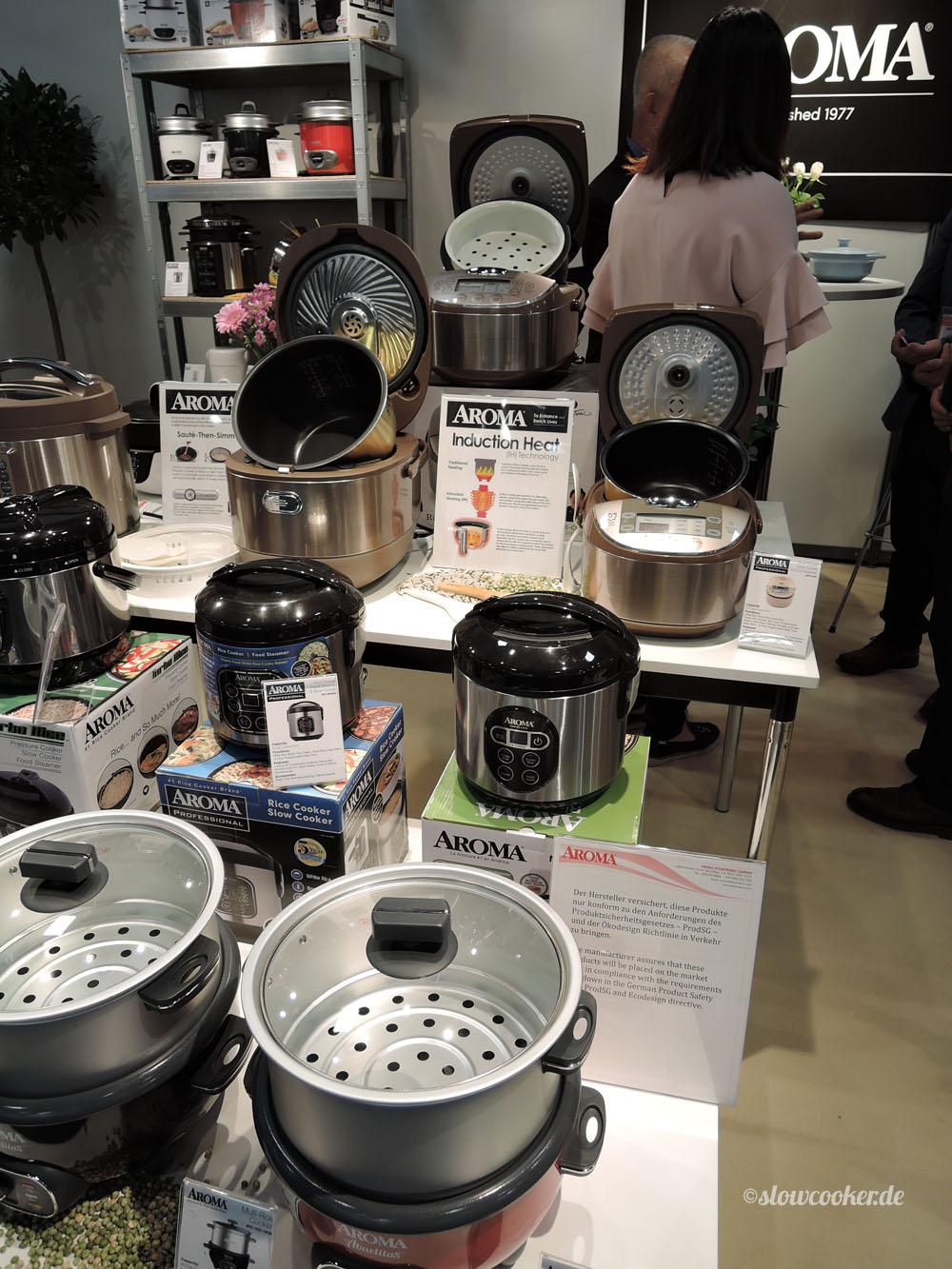 Schnell- & Langsamkocher sowie Multikocher von Aroma kommen bald auch in D auf den Markt