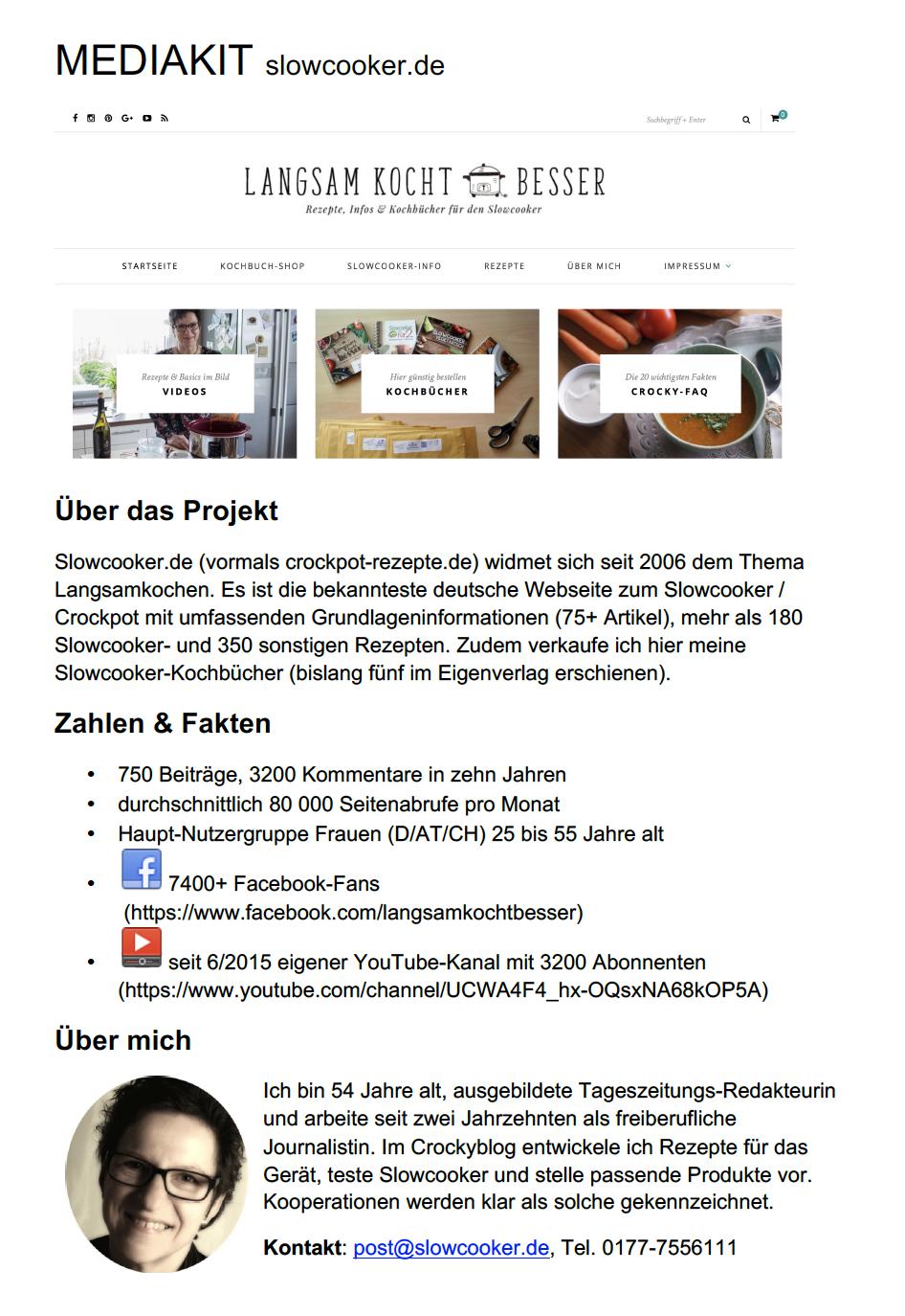 Mediakit Slowcooker.de