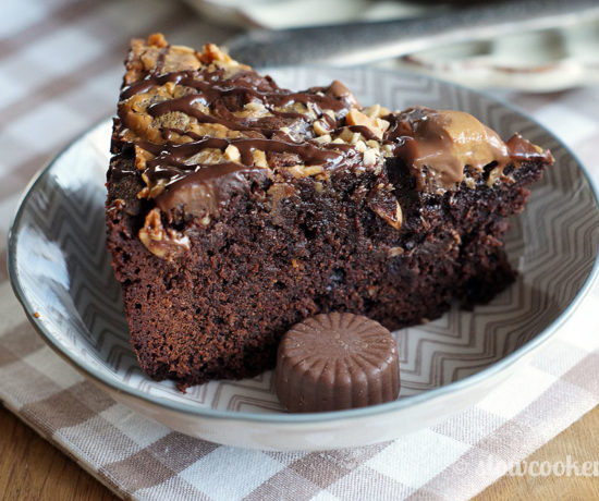 Peanut Butter Brownies aus dem Slowcooker