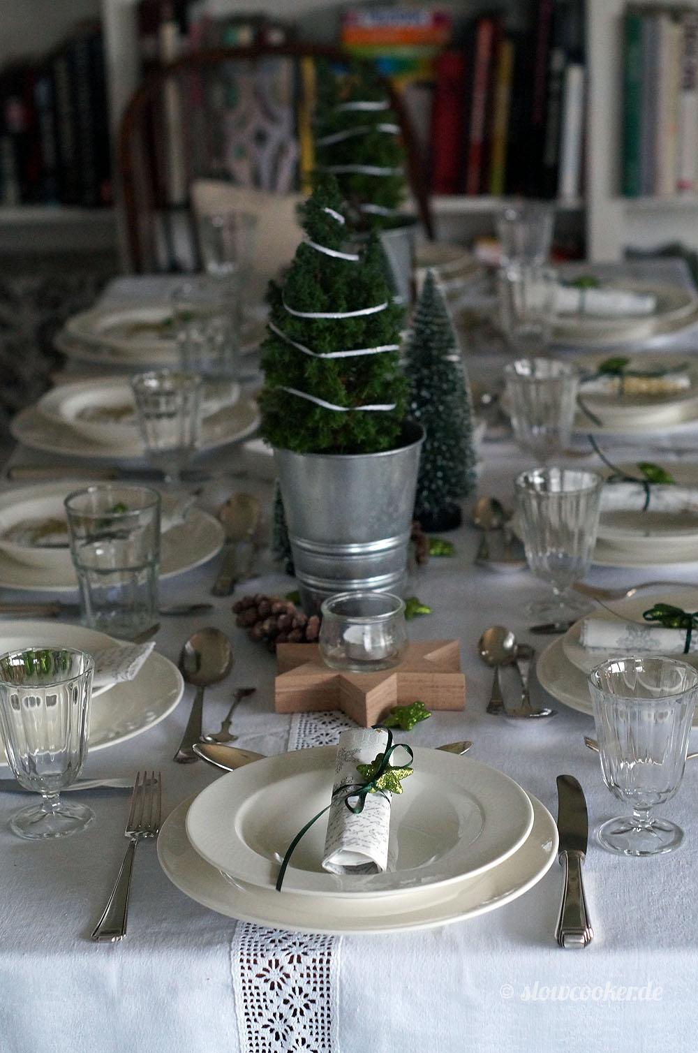 Weihnachtsmenü 2017 - die Tischdekoration