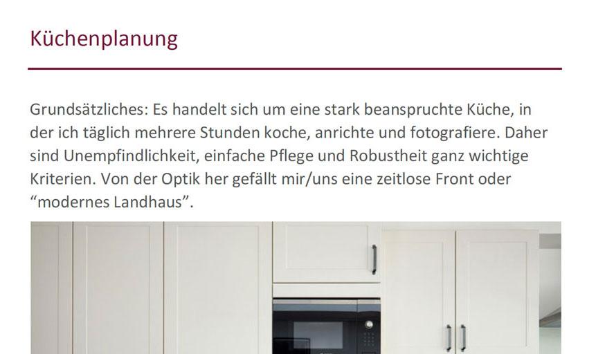 Küchenplanung Schritt 2: Wie soll die Küche aussehen? | Langsam ...