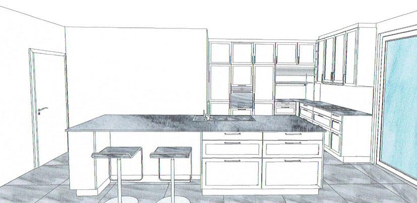 Entwurf 2 Von Küchenplaner 2: Ja, Kommunikativ Ist Diese XL Insel Auf Alle  Fälle