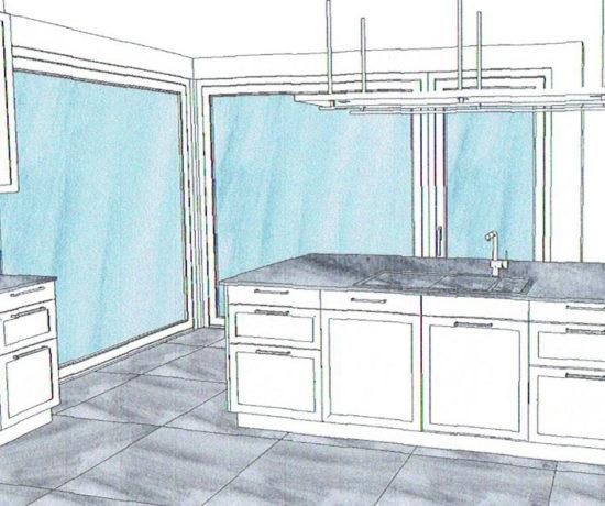 Entwurf neue Küche