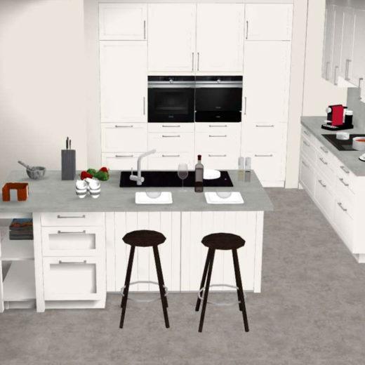 Skizze der neuen Küche