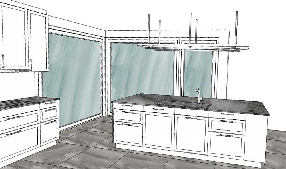 Die neue Küche, Kücheninsel