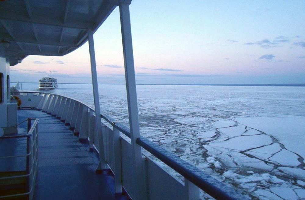 Eisbrecher auf dem ladoga-See