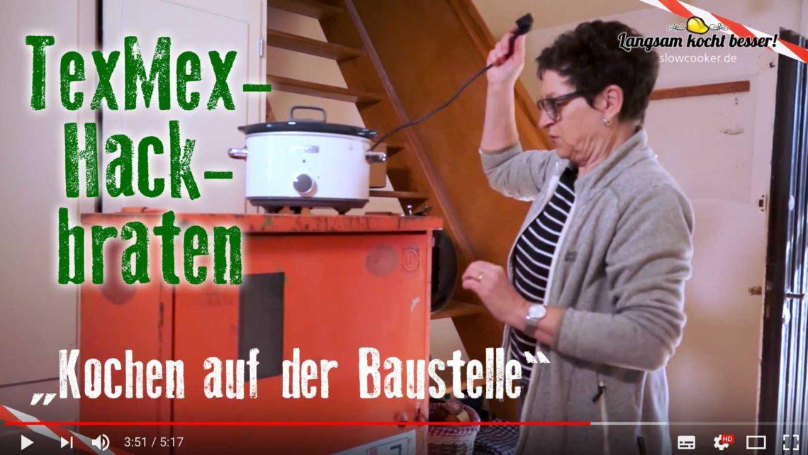 Video Kochen auf der Baustelle mit Slowcooker