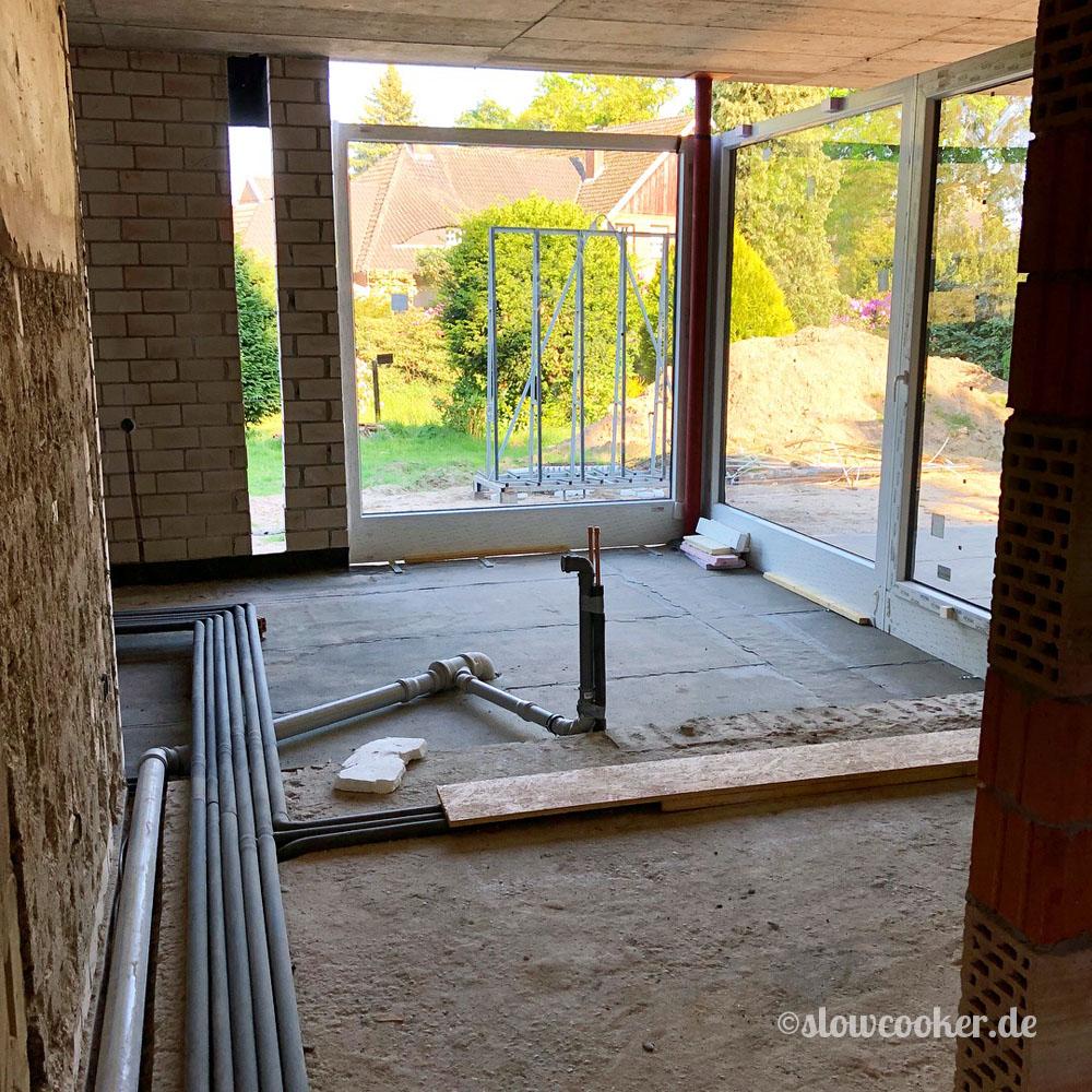 Küchenanbau ohne Fußboden
