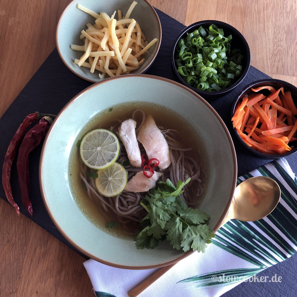 Asia-Nudelsuppe aus dem Slowcooker