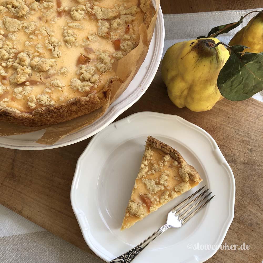 Herbst Backerei Quitten Quarkkuchen Langsam Kocht Besser