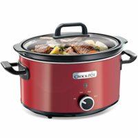 Crock-Pot SCV400RD-050 3,5l, Warmhaltefunktion, spülmaschinenfester Topf und Deckel, rot