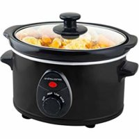 Andrew James Slow Cooker 1,5 , Keramik-Innentopf, ideal für kleine Portionen, 3 Temperatureinstellungen, 120W