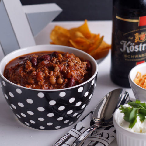 Buffalo Stout Beer Chili (Slowcooker-Rezept)